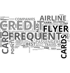 what you need to know about frequent flyer credit vector image