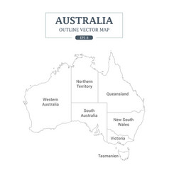 australia map outline high detail separated vector image vector image