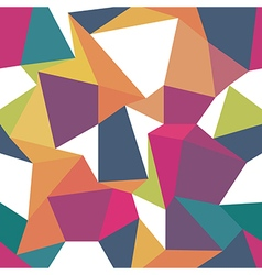 Colorful triangles Seamless abstract geometric vector image vector image