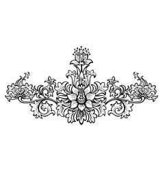 flower ornament vector image