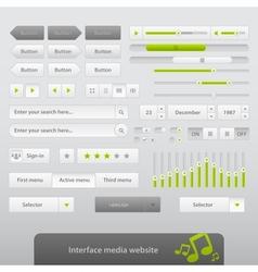 Interface Media Website vector image