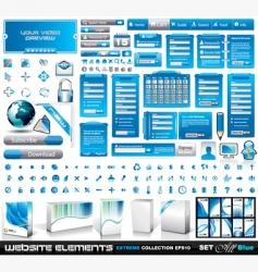 web elements vector image