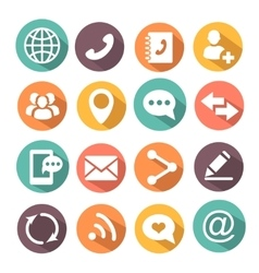 Communications colorful Icons vector image