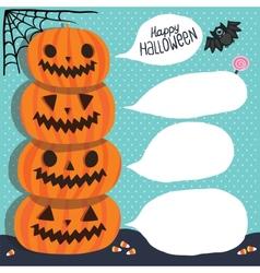 Halloween Pumpkins with bubble speech vector image vector image