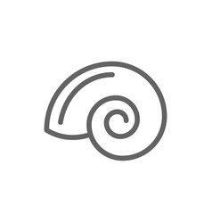 simple shell line icon symbol and sign vector image vector image