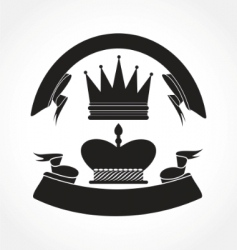 vintage crown vector image vector image