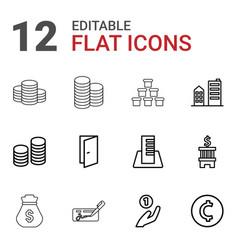 12 bank icons vector