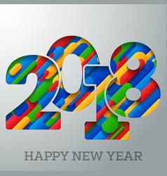 2018 happy new year holiday greeting card vector image