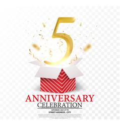 5th anniversary celebration vector image