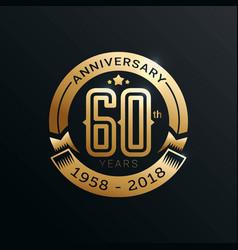 Anniversary emblems template vector