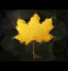 Autumn maple leaf - abstract low poly art vector