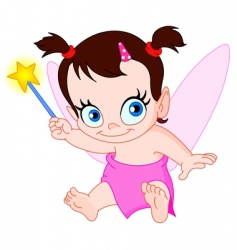 baby fairy vector image