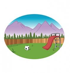 backyard background vector image