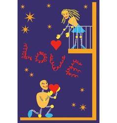 balcony romance vector image