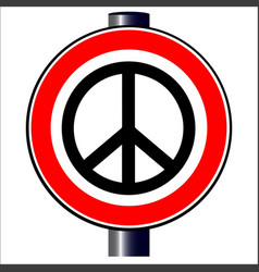 Ban the bomb road sign vector