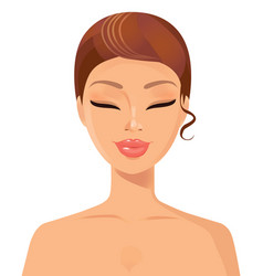 Beautiful young woman relaxing isolated vector