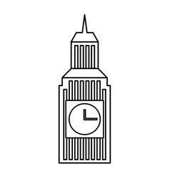 big ben building england vector image
