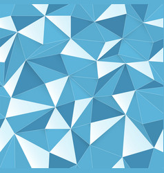 blue 3d triangle pattern seamless design texture vector image