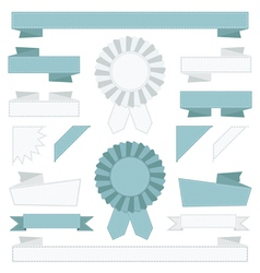 blue and white ribbons vector image vector image