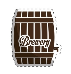 Brown barrel icon image design vector