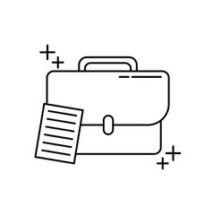 business briefcase office line icon style vector image