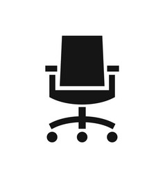 business office chair simple black icon vector image