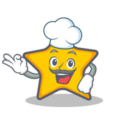 Chef star character cartoon style vector