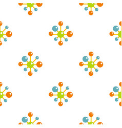Chemical and physical atoms pattern flat vector