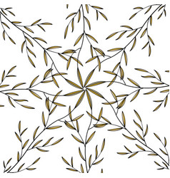 circle pattern with leaves for wallpaper vector image