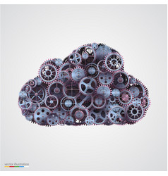 cloud made of cogwheels vector image