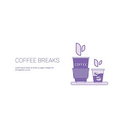 coffee break web banner with copy space business vector image