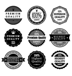 Collection of Premium Quality and Guarantee Labels vector