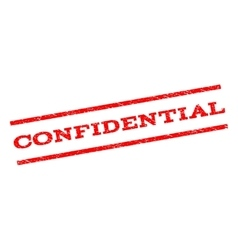 Confidential Watermark Stamp vector image