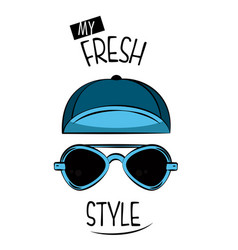 Cool print for t shirt vector