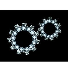 Diamond Cogwheels vector image