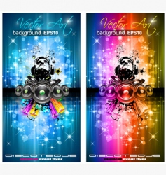 disco music background vector image
