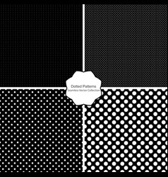 dotted patterns - seamless collection vector image