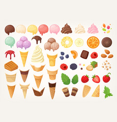 elements to create your own ice cream vector image
