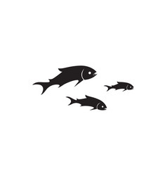 fish silhouette template salmon black vector image