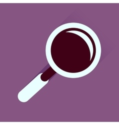 Flat icon with long shadow magnifying glass vector image