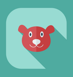 Flat modern design with shadow icons bear canada vector