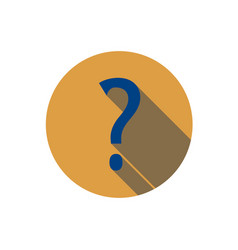 flat question mark icon question with a long vector image