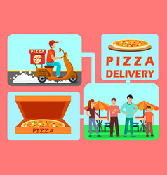 food delivery process web banner template vector image
