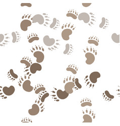 footprint paws of a bear vector image