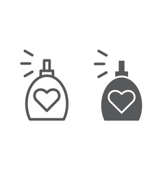 Fragrance line and glyph icon aroma and love vector