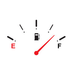 full fuel gauge icon vector image