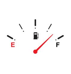 Full fuel gauge icon vector