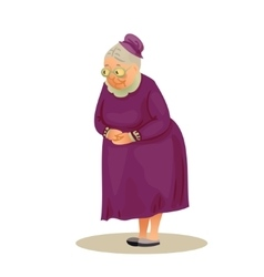 Funny elderly lady with glasses Grandmother vector image
