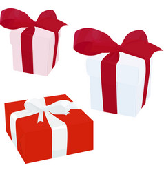 gift box with bow isolated on vector image