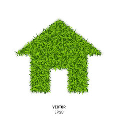 green grass house vector image